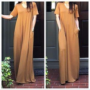 Dresses & Skirts - Copper Side pocket loose fit maxi dress